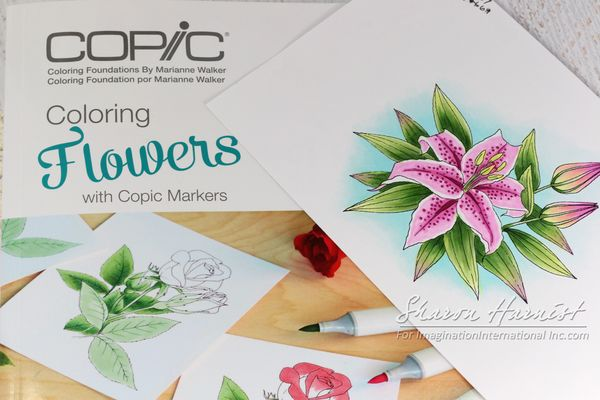 Copic Coloring Flowers - PaperFections