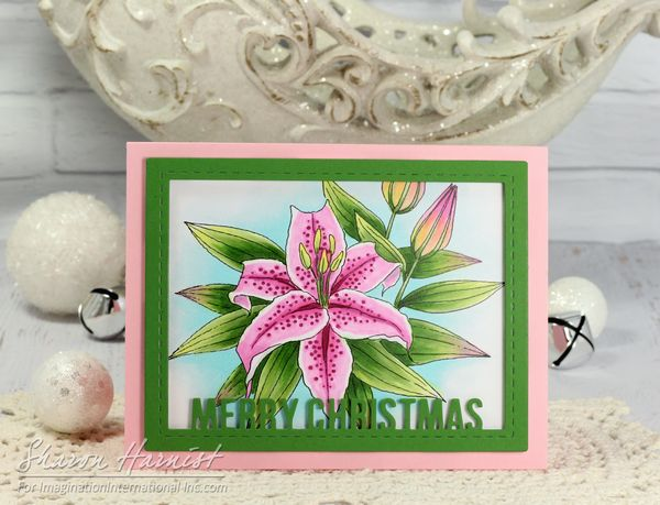 Copic Coloring Flowers 10 PinkLilyCmas SH