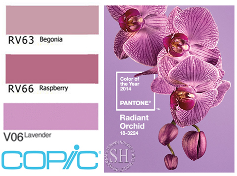 Copic-Pantone 2014 Color of the Year
