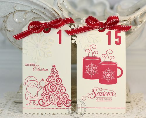 Season's Greetings StampTV Kit Tags 1-15